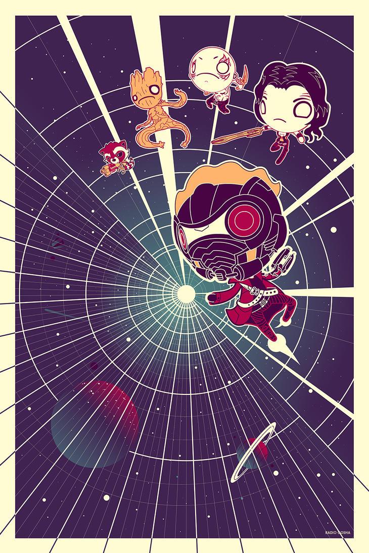 A Galaxy of Stars - Guardians of the Galaxy by GoshaDole