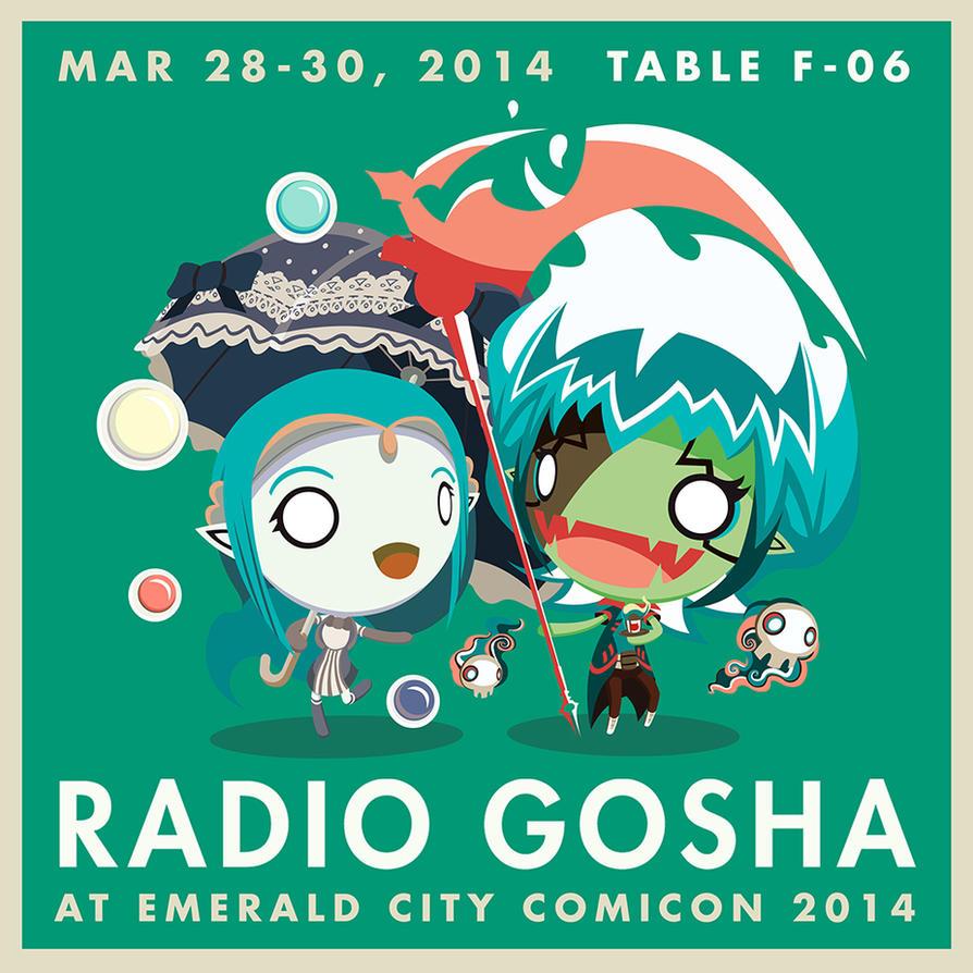 Radio Gosha at Emerald City Comic Con 2014 by GoshaDole