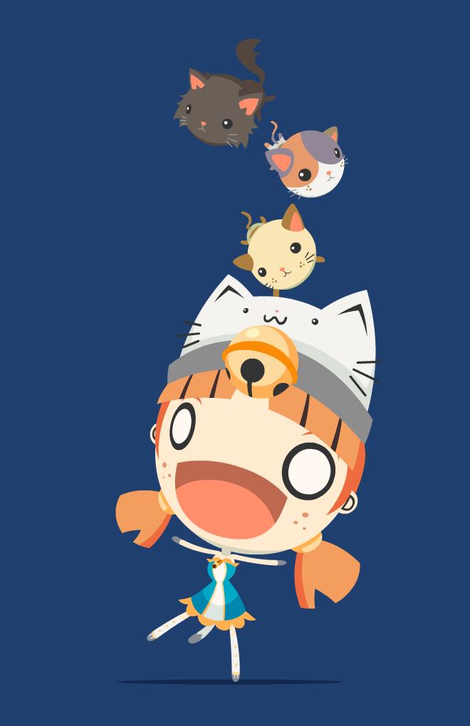 Kitty Cat Tumble Tower by GoshaDole