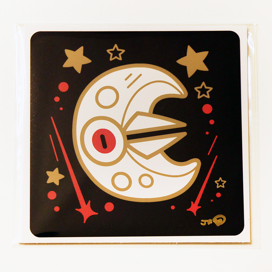 #337 Lunatone Pokemon Print by GoshaDole