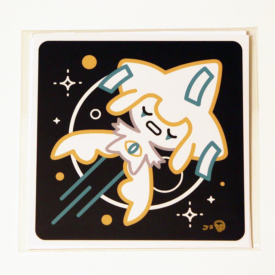 #385 Jirachi Pokemon Print by GoshaDole