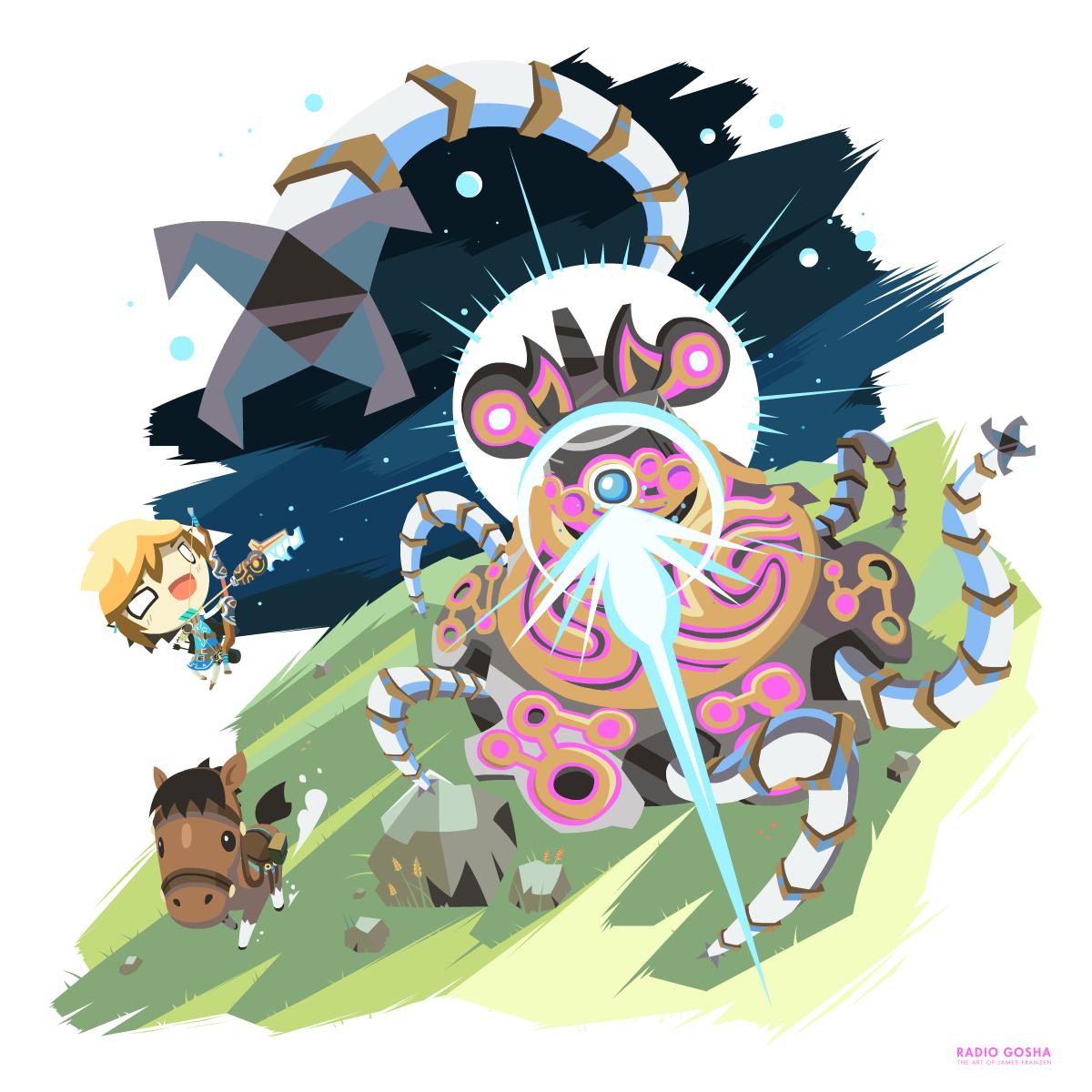 Zelda - Breath of the Wild - Guardian Fight by GoshaDole