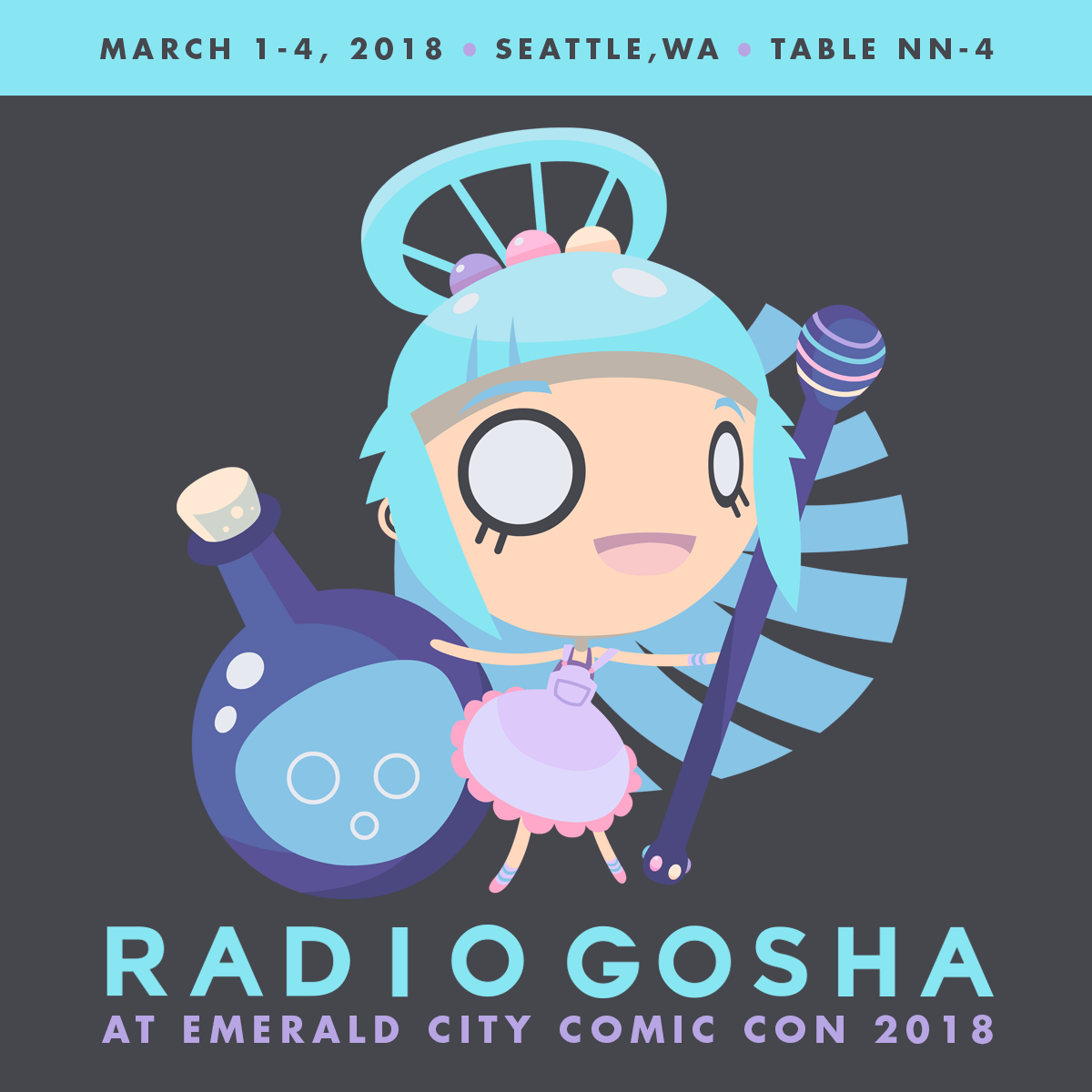 Radio Gosha x Emerald City Comic Con 2018 by GoshaDole