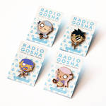 Radio Gosha Enamel Pin Set - Wave 2