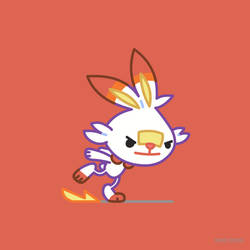 Scorbunny Pokemon Sword and Pokemon Shield by GoshaDole