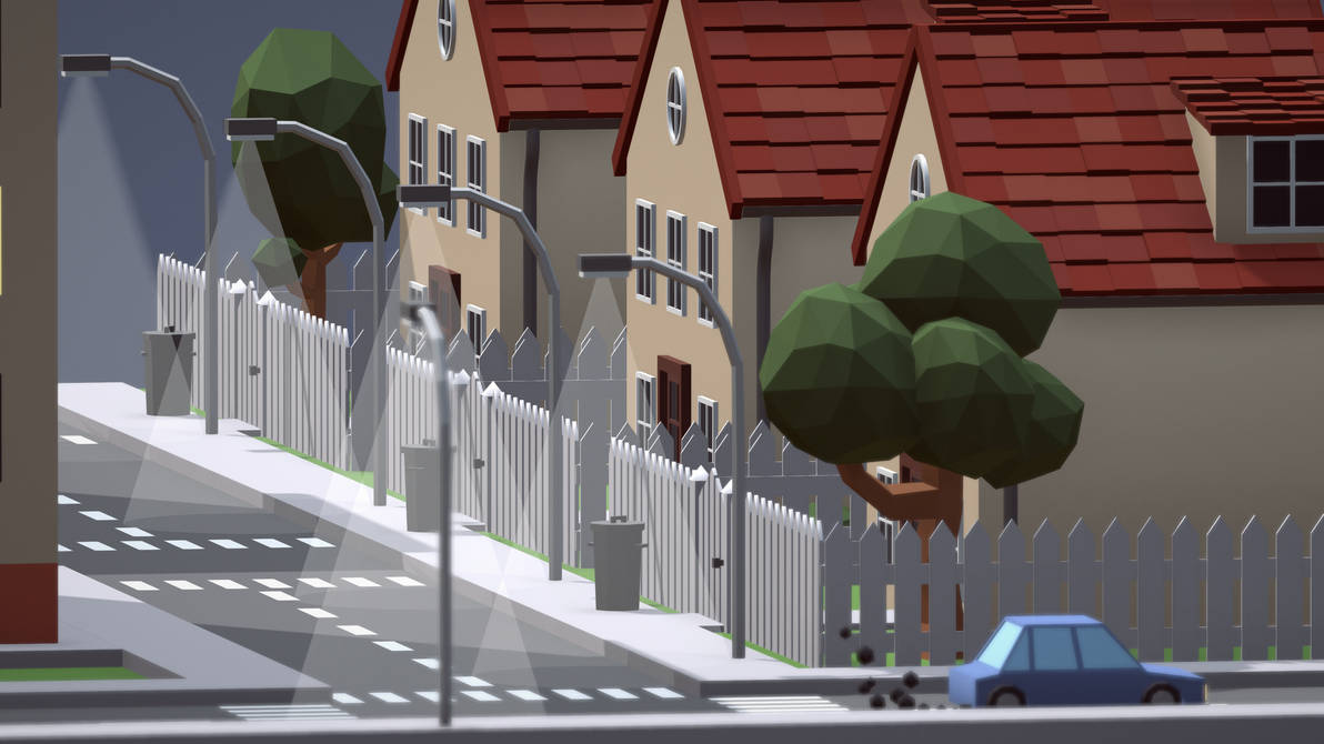 Low Poly City by PeToDes on DeviantArt