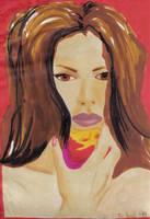 Girl Eating Apple - 1994 by PoizonMyst