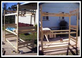 Triple Bunk: work in progress1 by PoizonMyst