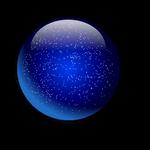 Blue Glassy Glittery Sphere