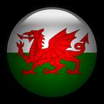 Welsh flag glass ORB