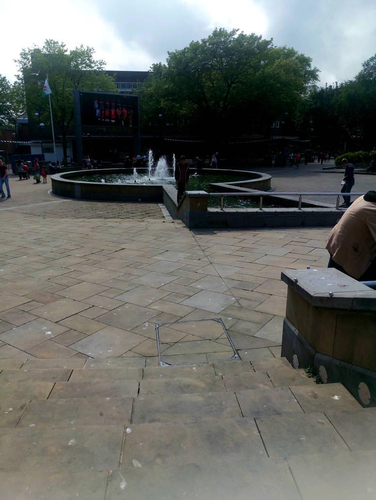 Swansea City Centre, Castle Gardens, Fountain by stumpy666davies