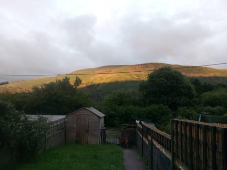 Photo taken from my mum's garden Ystalyfera Sunset