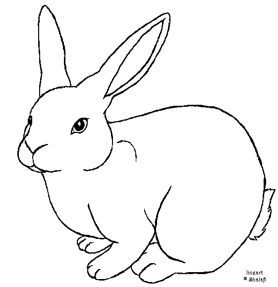 Line Art Easter Bunny : Rabbit template free by shalafi anwe on deviantart