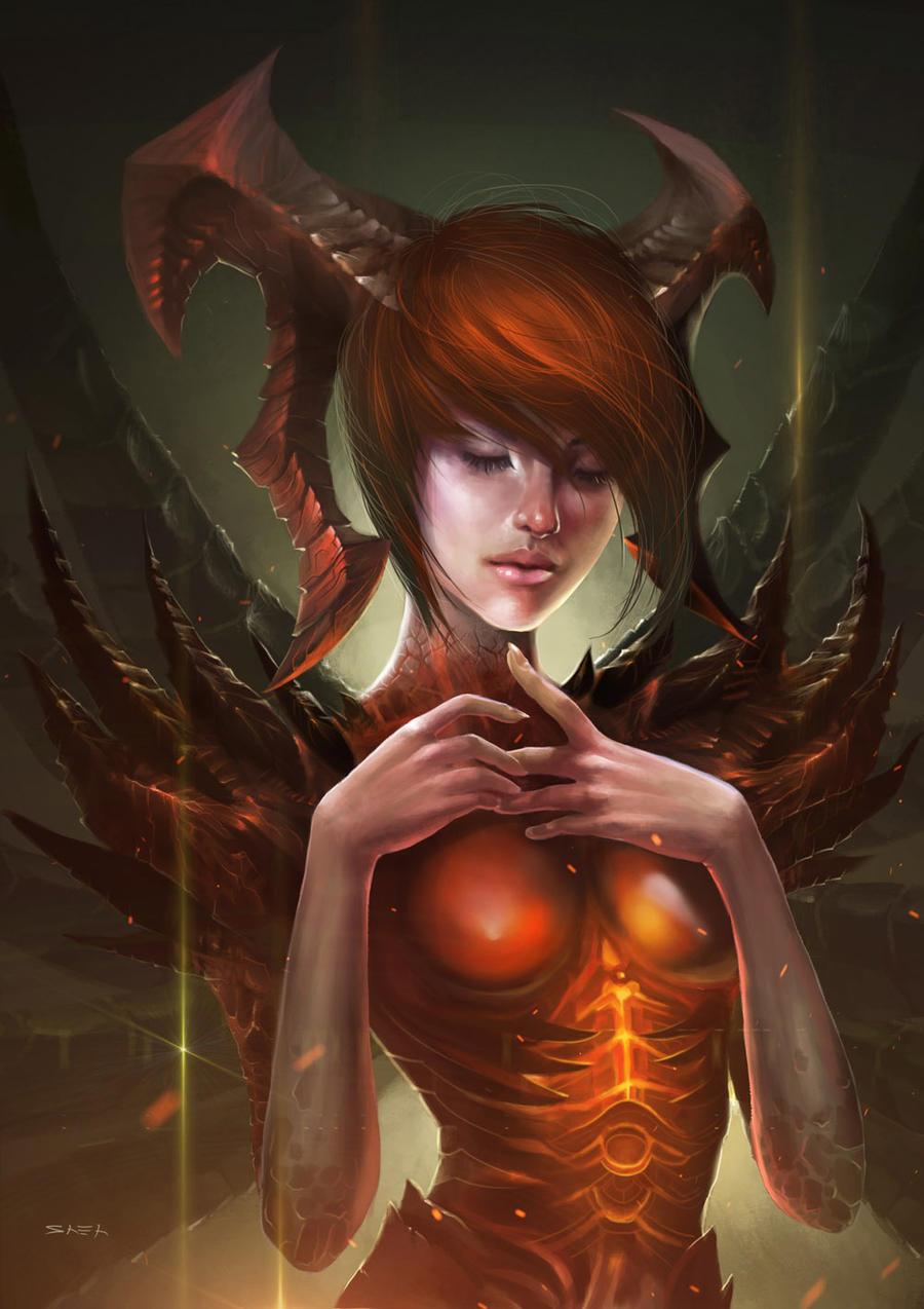 Leah - the diablo girl by bongbaba