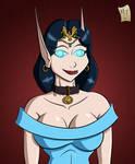 Priestess Sapphire Dawnwalker Portrait