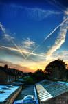 west london late summer skies