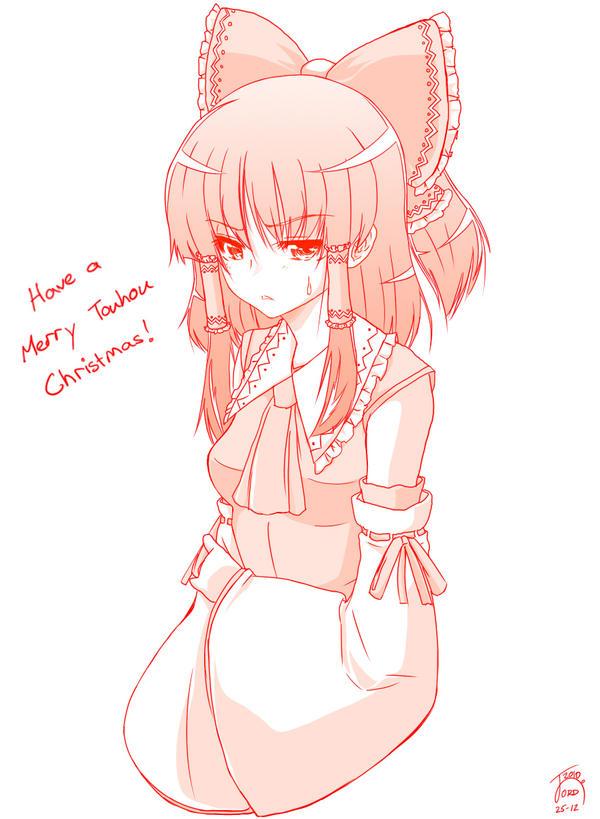 Reimu - Merry Touhou Christmas by ShadowMKII on DeviantArt