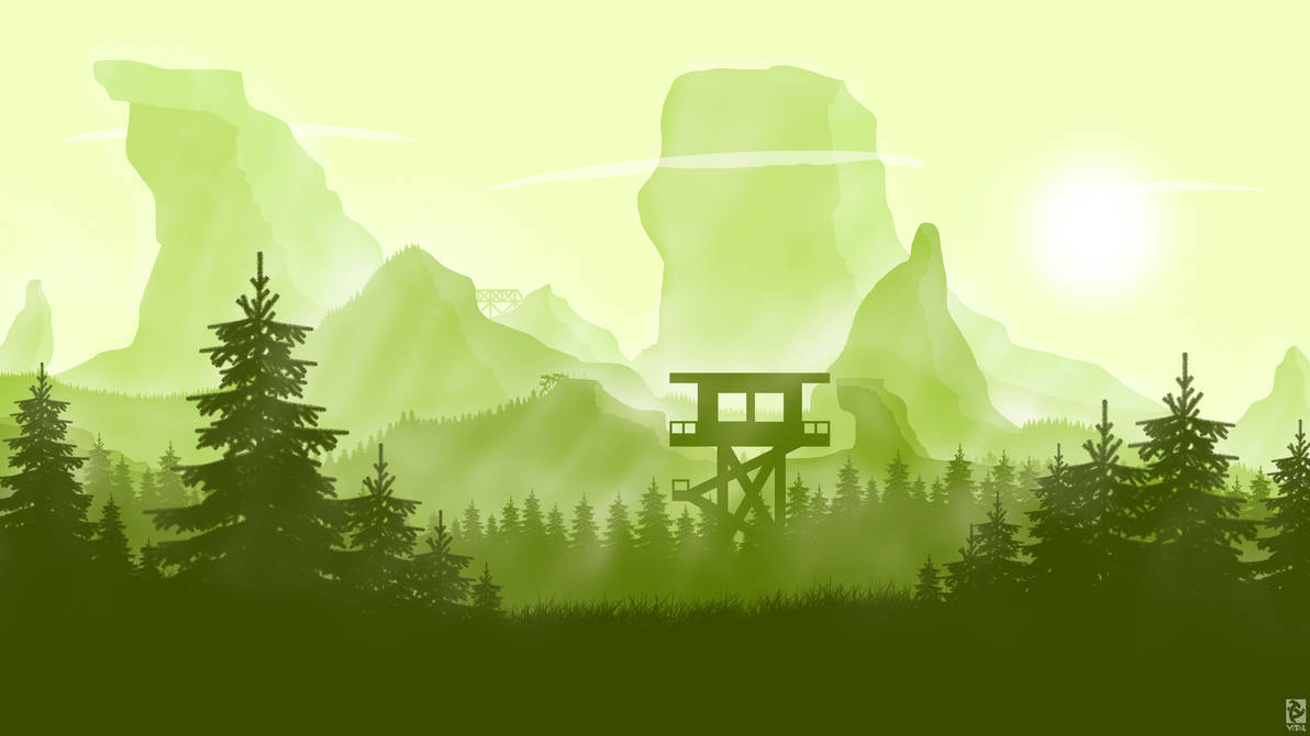 Vital's Flat Landscape 3 Wallpaper