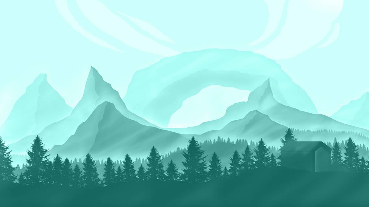 Vital's Flat Landscape 6 Wallpaper
