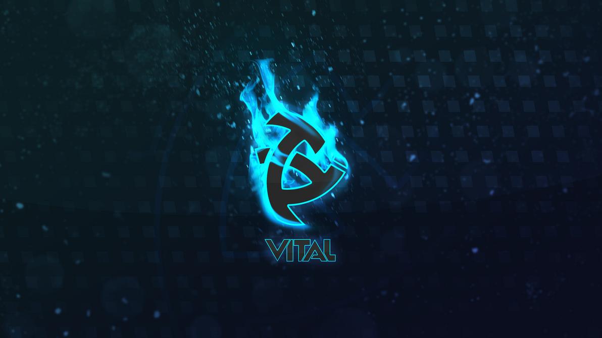 Vital Logo Blue Fire