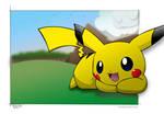 Greyteaser's Pikachu: Colored