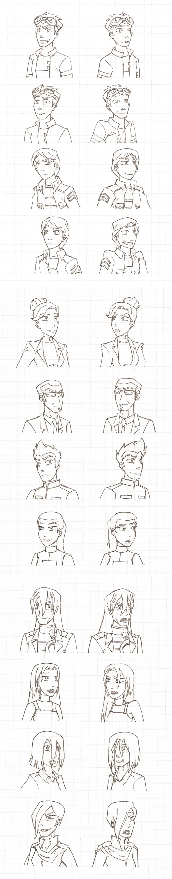 GR - Expression Doodles by DarthAnimus