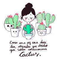 The cactus girl - Availabe on REDBUBBLE! by Misspingu