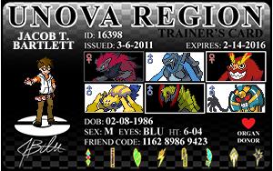 Unova Pokemon Trainer ID Card by JacobLionheart
