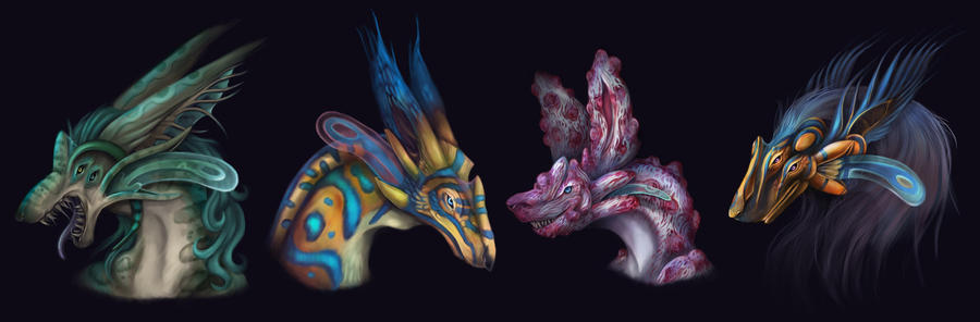 Faigrans: Aquatic Canines by Noomeci-art