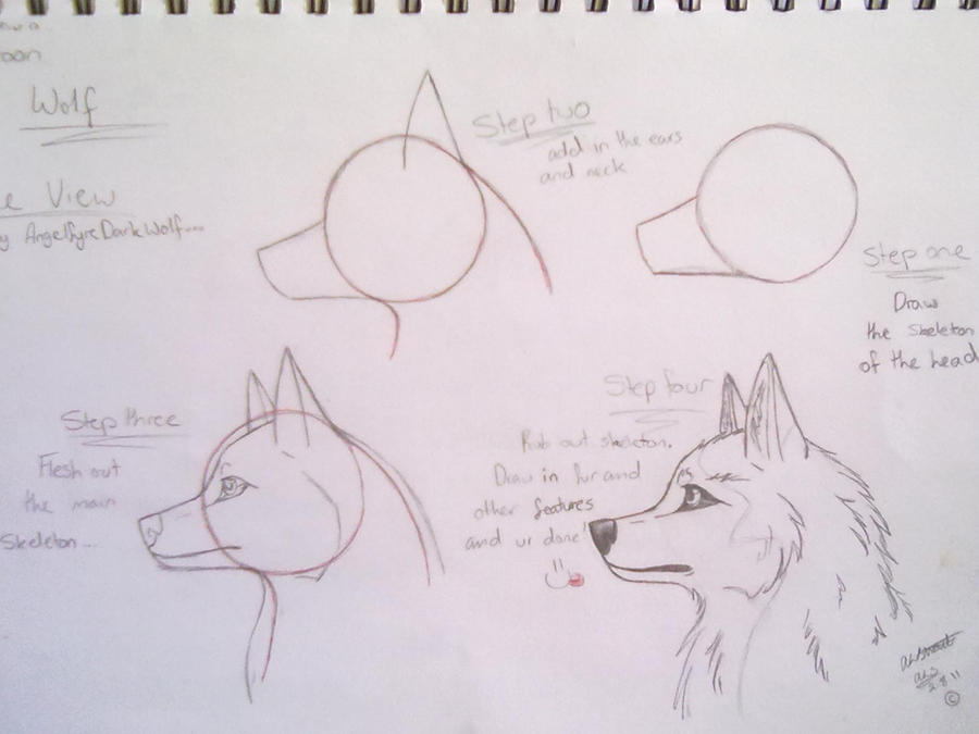 How to draw a cartoon wolf by angelfyredarkwolf on deviantart how to draw a cartoon wolf by angelfyredarkwolf ccuart Image collections