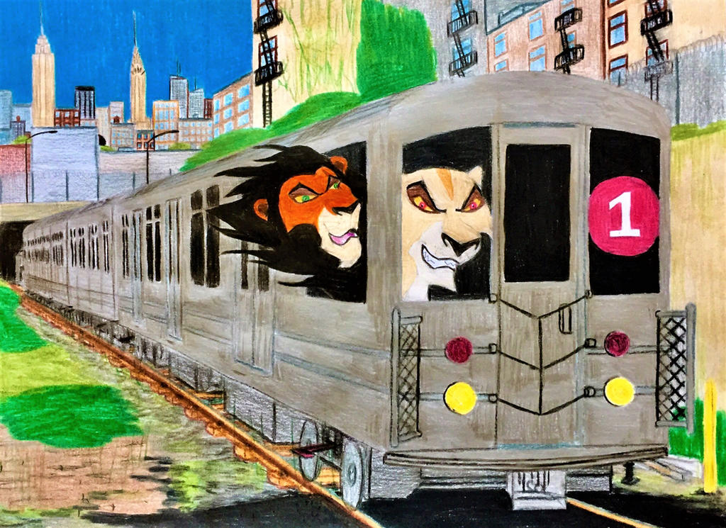 Lion Subway Ride by Lord-Zephyr-Tiger
