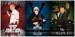 Cornetto Trilogy Custom Posters - SOTD/HF/TWE by xMattMurderx