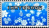 Stamp- I hate snow by AmelieRosen