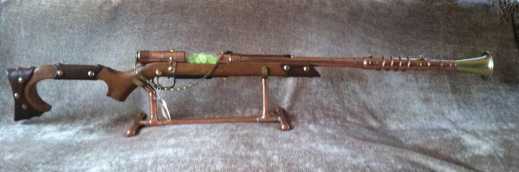 Steampunk Uranium Reactor Pulse Rifle. by jimdavidson3