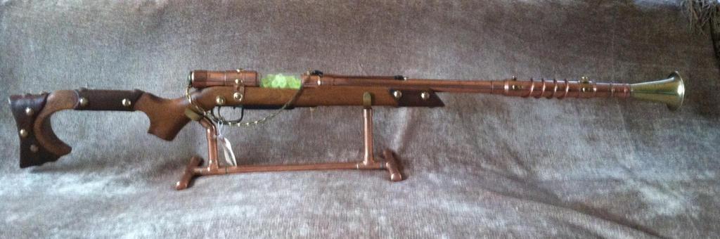 Steampunk Uranium Reactor Pulse Rifle. by jimdavidson3