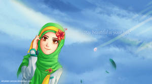 beautiful in hijab by Cerulean-Canvas