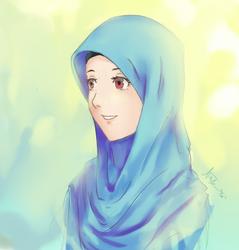 hijab potrait by Cerulean-Canvas