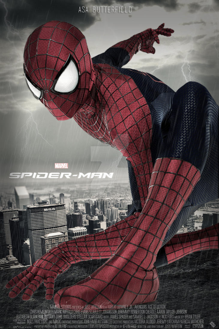 Marvel's Spiderman 2017 Poster ASA Butterfield by ...