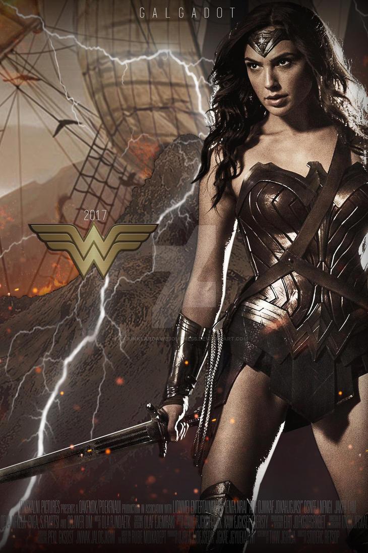 Wonder Woman Gal Gadot Movie Poster 2017 HD By JunkyardAwesomeness
