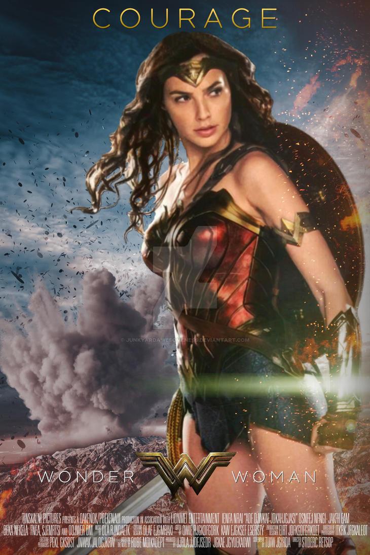 2017 Wonder Woman Poster HD By JunkyardAwesomeness