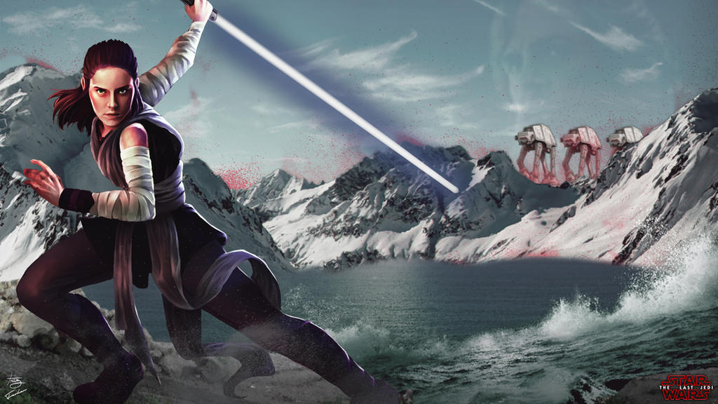 2018 Star Wars The Last Jedi Rey Fan Art Wallpaper By Junkyardawesomeness On Deviantart