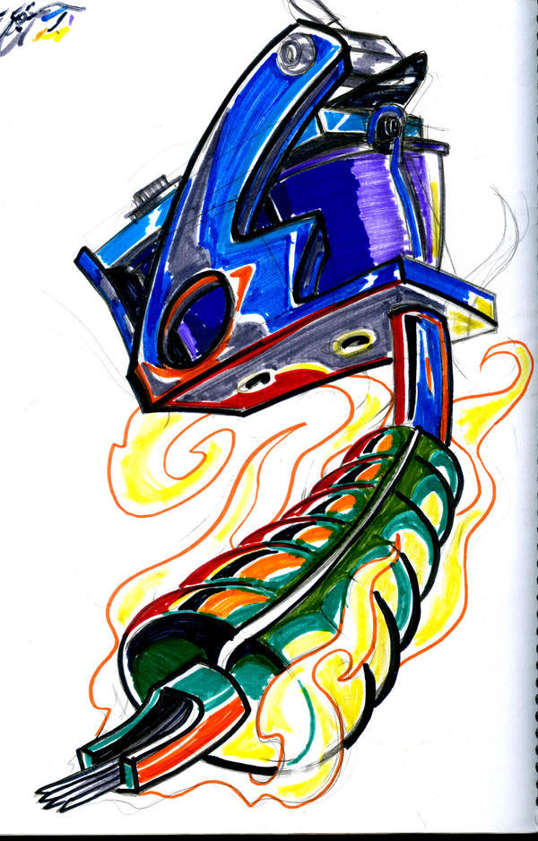 Tattoo Sketching Tattoo Machine Sketch by