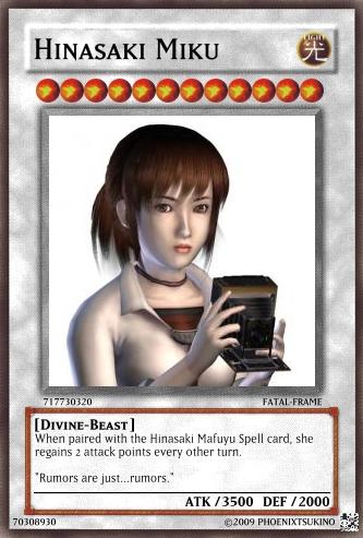+Fatal Frame Cards+ Miku by phoenixtsukino