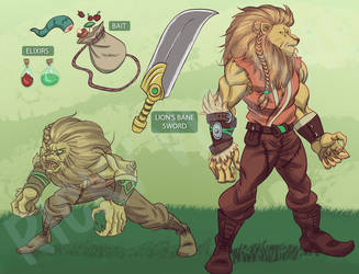 Lion Warrior by Rinexperience