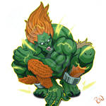 Blanka - Street Fighter Fanart by Rinexperience