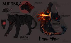 Summbra reference (Second Main OC) by xzazu2002