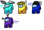 Among us ref sheets of roblox self and friends