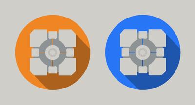 Portal Flat Icon Blue And Orange By Mattvalenzuela by MattValenzuela