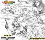Bang Bang Lucita Issue 3 pg 5 pencils by IsleSquaredComics