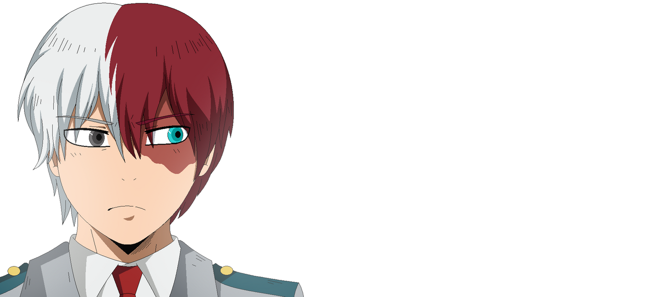 Shoto Todoroki - My Hero Academia - MS Paint by DrDuckSauce